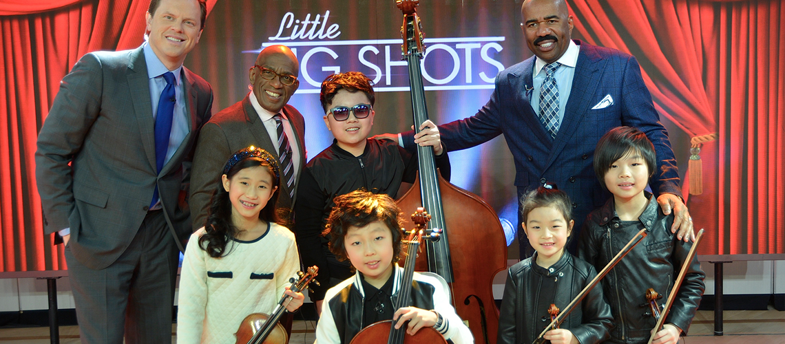 Pint-size string quintet help Steve Harvey preview 'Little Big Shots'