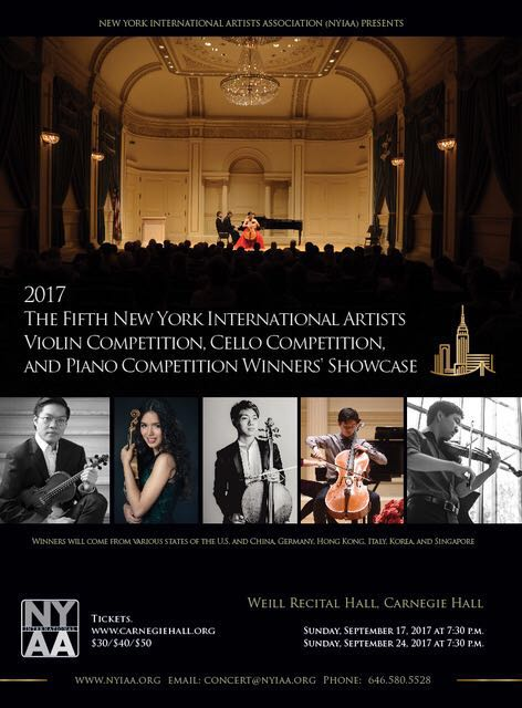 The Fifth NYIA Violin Competition 2017 | Joyous Music School